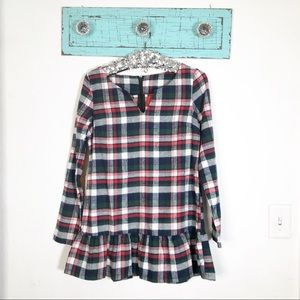 Fashionimics elbow patch flannel long sleeve shirt